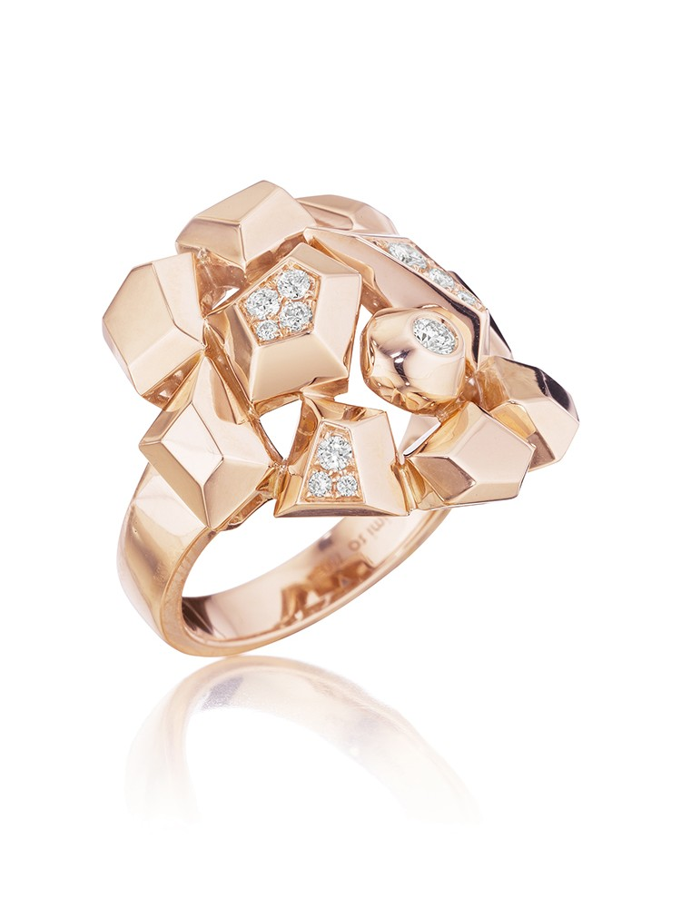 18K Gold Jackson Mini Diamond Cluster Ring