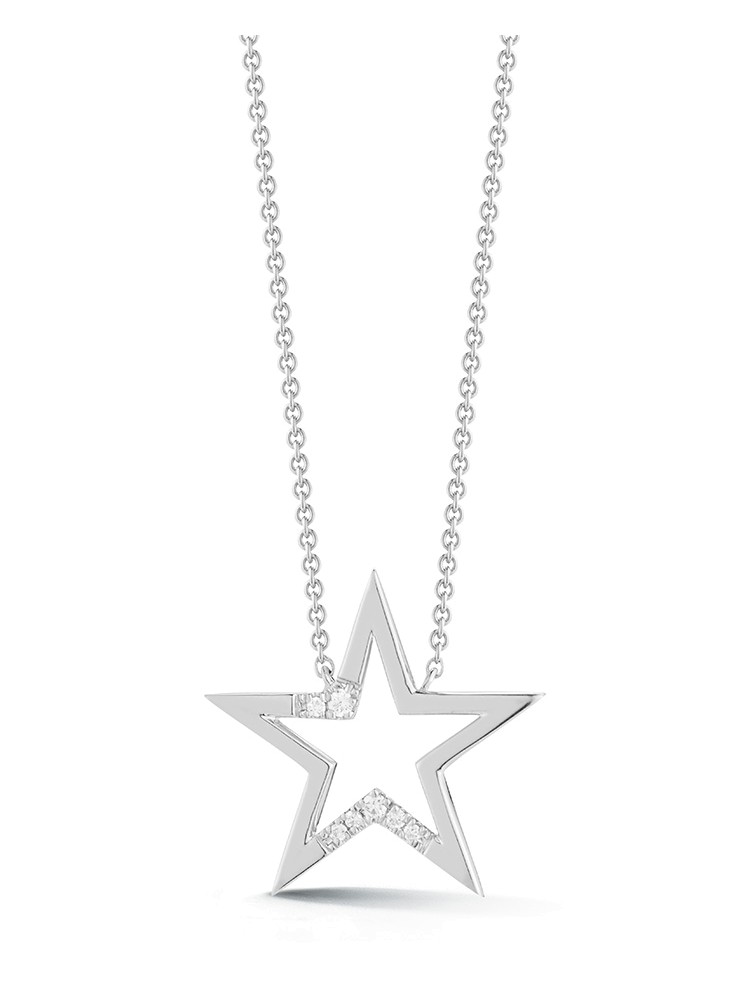 Julianne Himiko White Gold Cut Out Star Necklace