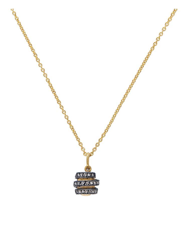 24k Gold Diamond Spiral Roxanne Pendant