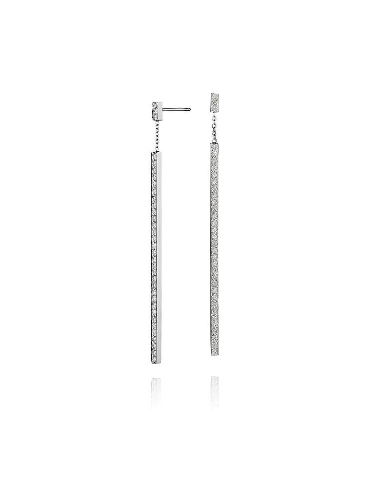 Piece Stick Diamond Earrings