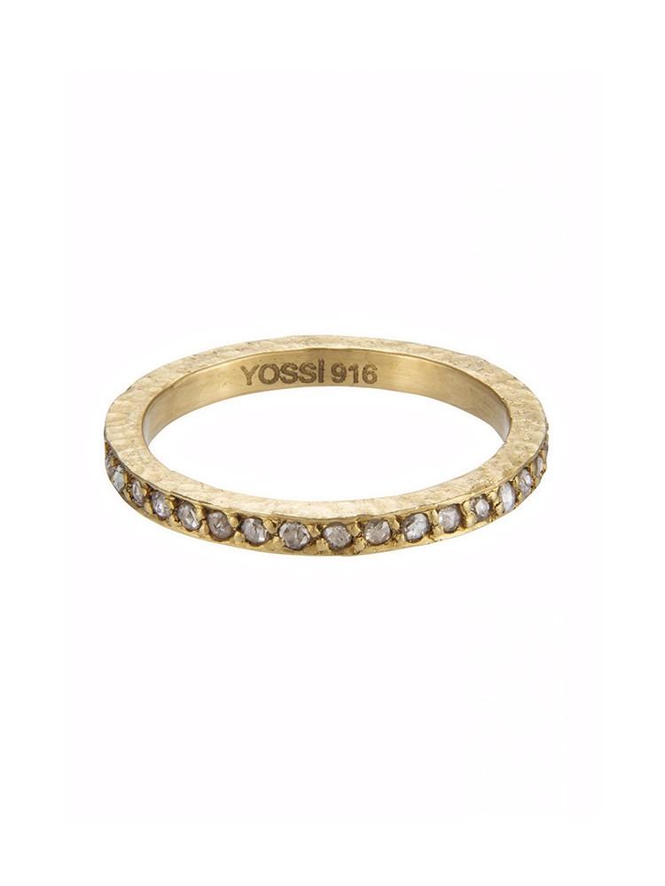 Yossi Harari Jewelry Lilah 24k Gold Cognac Rose-Cut Diamond Band Size 6