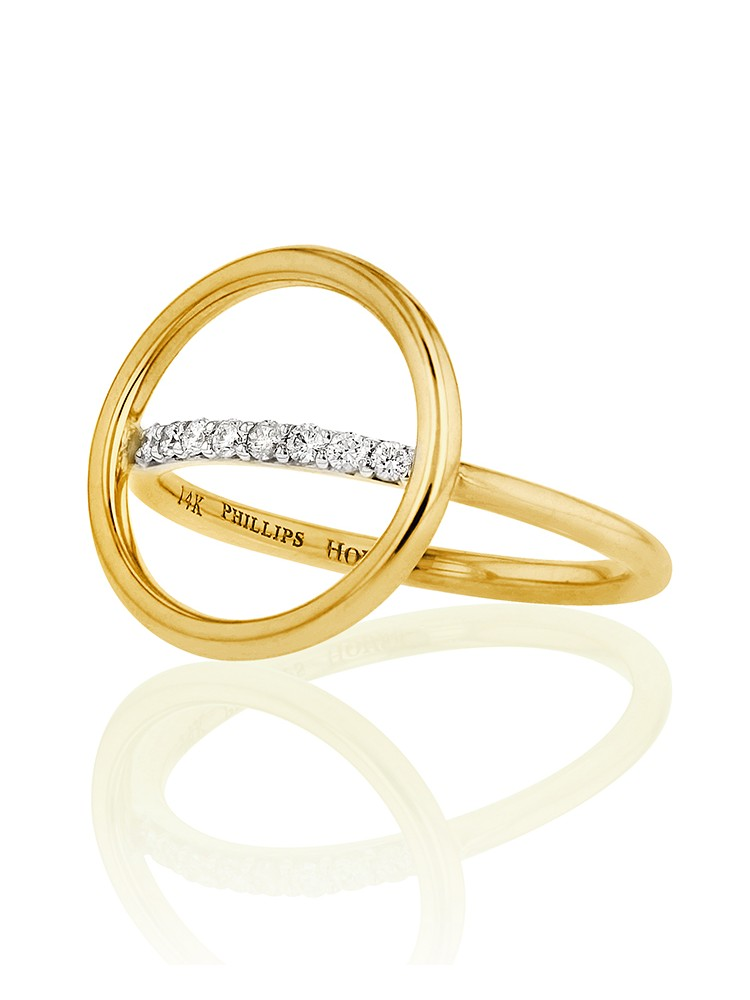 Yellow Gold Affair Halo Ring