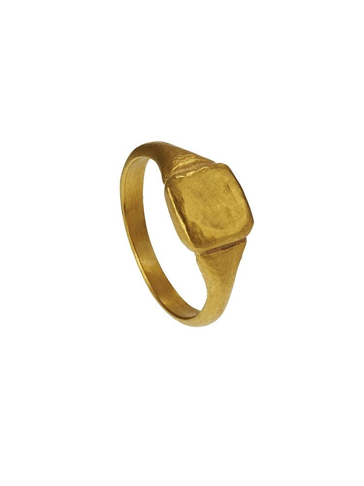 Yossi Harari Jewelry Roxanne 24k Gold Mica Ring Size 6