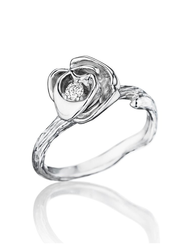 18K Gold Wonderland Large Stackable Rose Ring
