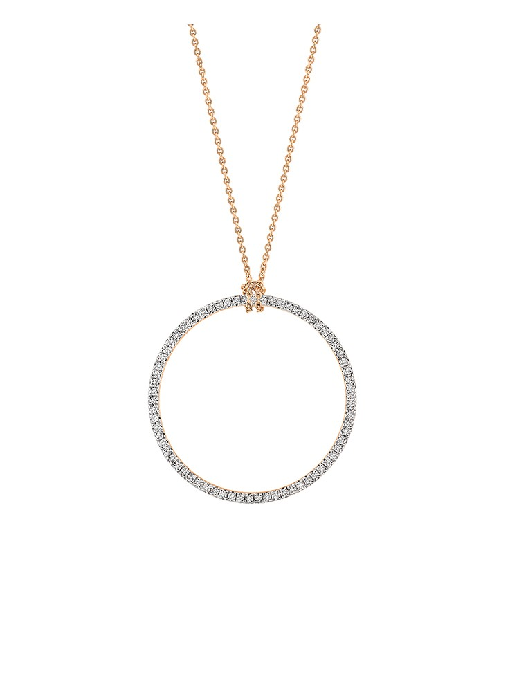 Baby Diamond Circle On Chain