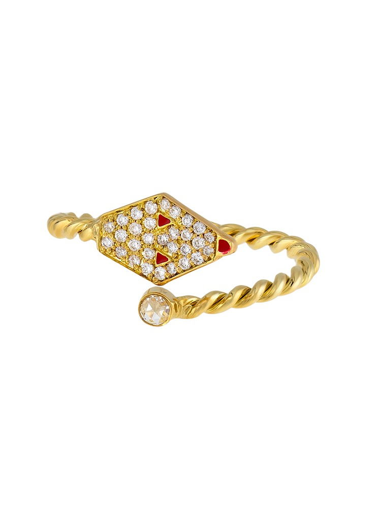 Misahara Drina Coil 18k Yellow Gold Ring