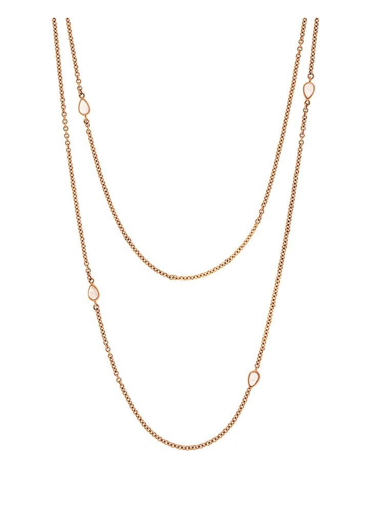 Misahara Water Splash 18k Rose Gold Necklace