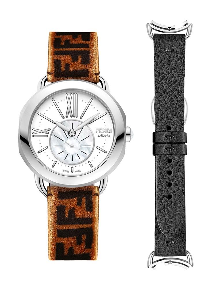 Fendi Timepieces Selleria Set F8190345U10A2 36 mm Womens Watch