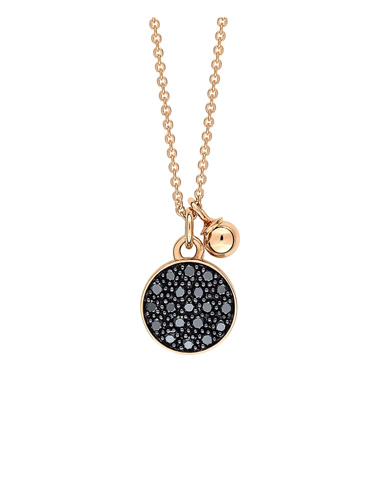 Mini Black Diamond Ever Disc On Chain