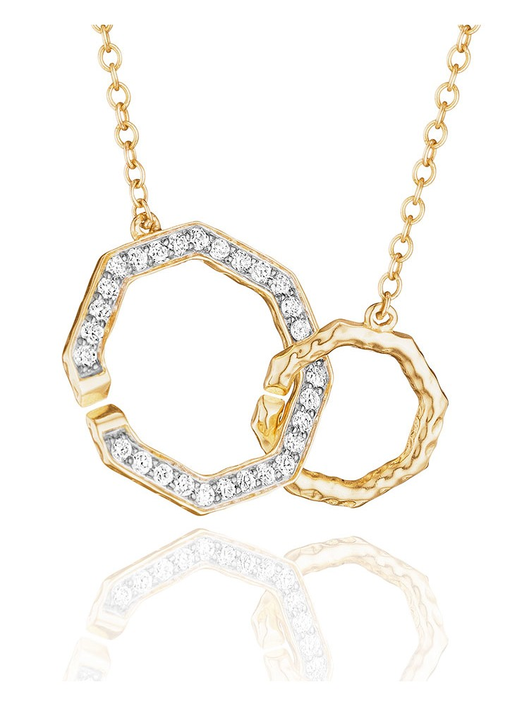 Yellow Gold Hero Front Closure Necklace