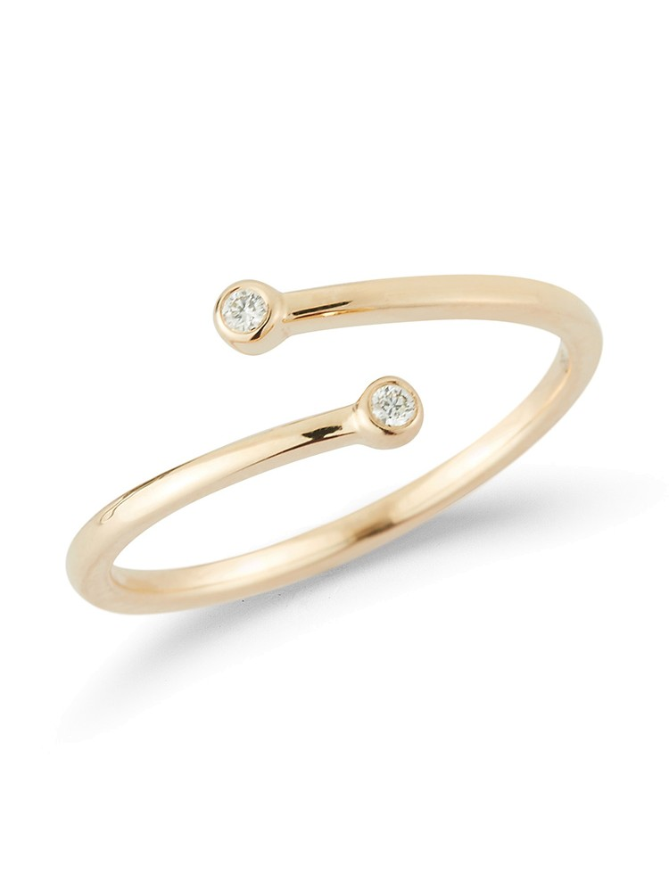 Lulu Jack Bezel Wrap Ring