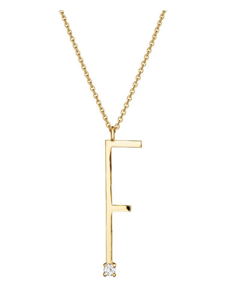 "Mimi So Type Letter ""F"" Pendant"