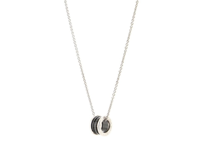 Bvlgari Save the Children Pendant Necklace Sterling Silver and Ceramic