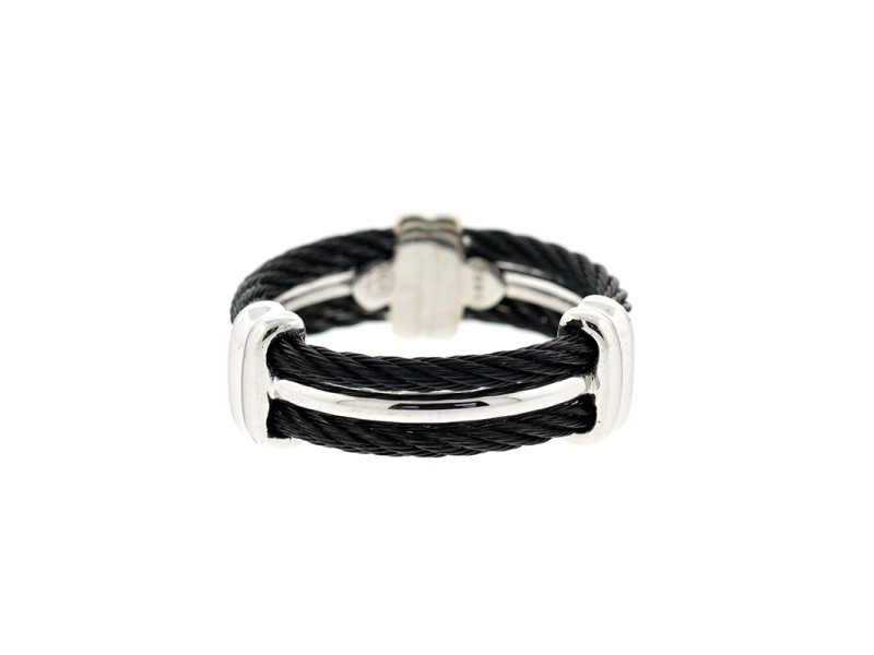 Alor 18K White Gold & Black PVD RING
