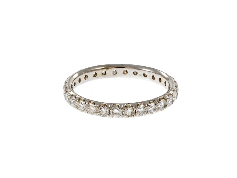 Platinum with 1.50ct Diamond Band Ring Size 6