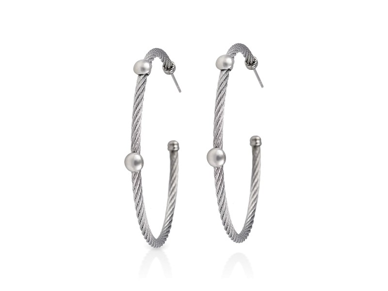 Alor 18k White Gold Earrings