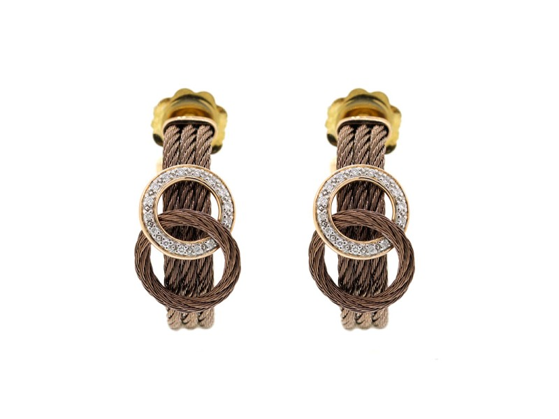 Alor 18K Yellow Gold , BRonze PVD Earring