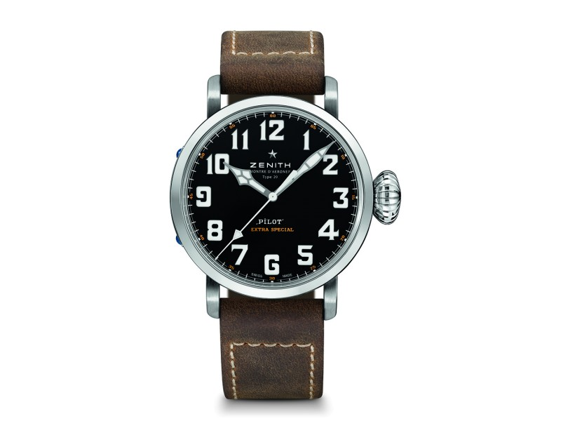 ZENITH Pilot Type 20 45 mm 03.2430.3000/21.C738 Brown Calfskin 45mm Mens Watch