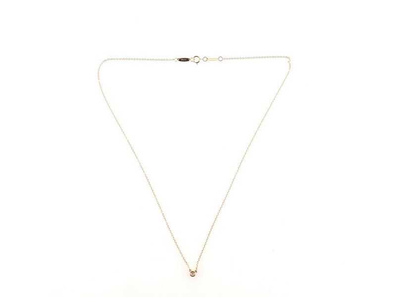 Tiffany & Co. Elsa Peretti Diamonds By The Yard Necklace 18K Rose Gold with Diamond .03CT