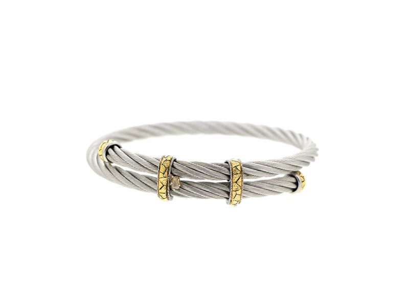 Alor 18K Yellow Gold & Stainless steel Bangle