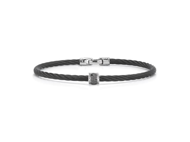Alor 18k White Gold Black Diamonds Bracelet