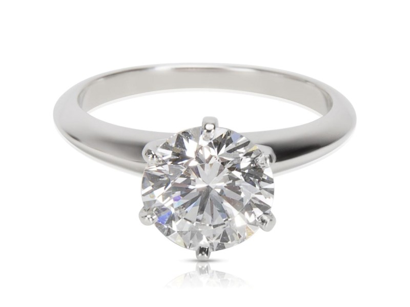 Tiffany & Co. Diamond Solitaire Engagement Ring in Platinum  GIA D VS1 2.02 ct