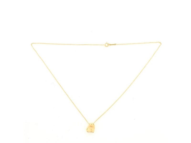 Tiffany & Co. Elsa Peretti Full Heart Necklace 18K Yellow Gold