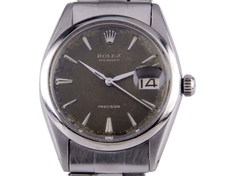 Rolex Oysterdate Precision 6694 Vintage 33mm Mens Watch