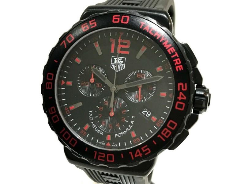 TAG HEUER CAU111D Formula 1 Stainless Steel / Rubber belt Chronograph Wrist watch