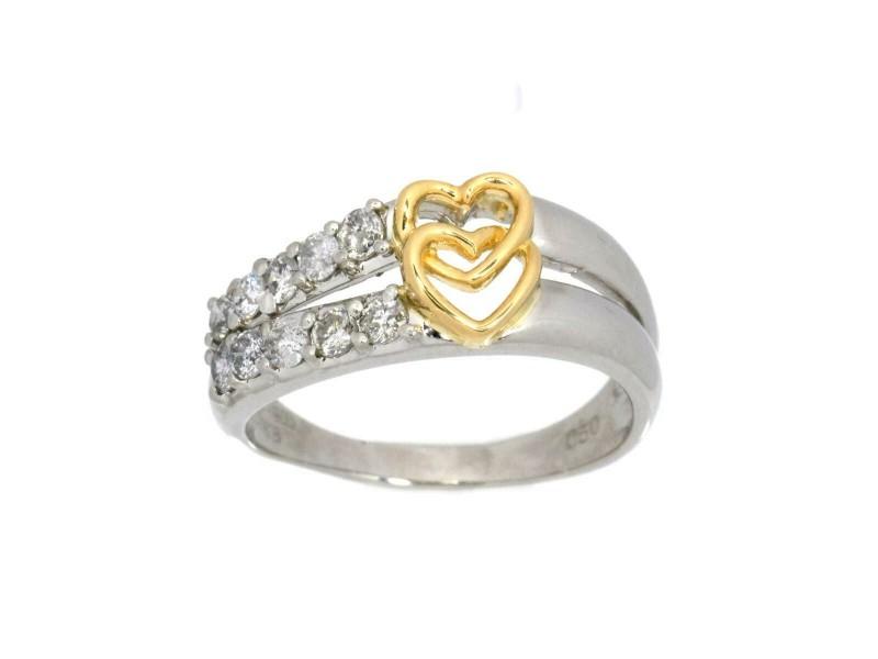 Platinum 18K pink gold Diamond Ring