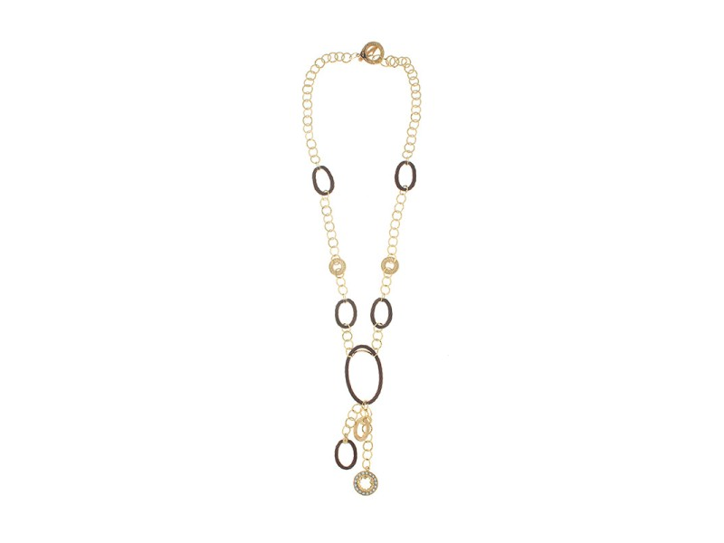 Alor 18K yellow gold & Bronze PVD 0.92 LEMON Q Necklace