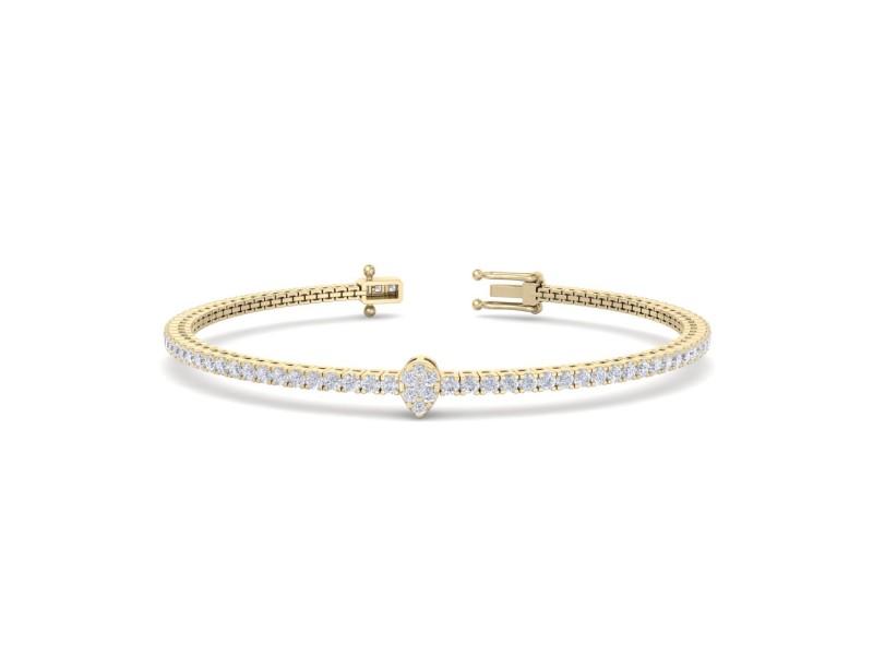 GLAM ® Tennis Bracelet in 18K Gold and 1.77ct White Diamonds