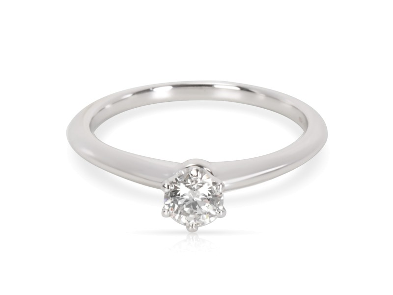 Tiffany & Co. Diamond Solitaire Engagement Ring in Platinum (0.38 ct I/VVS1)