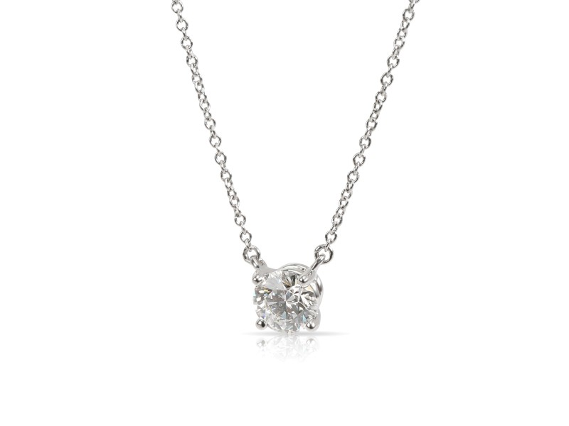 Tiffany & Co. Solitaire Diamond Pendant in  Platinum E VS1 0.72 CTW