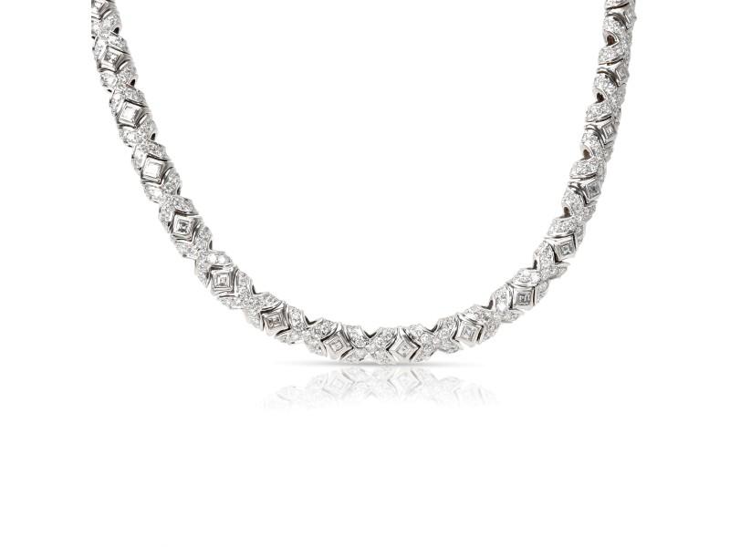 Bulgari Tubini Diamond Necklace in 18KT White Gold 10/1 CTW