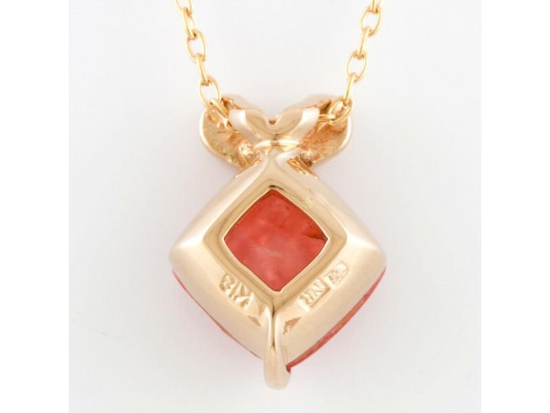 NINA RICCI 18k Pink gold Diamond Necklace CHAT-531
