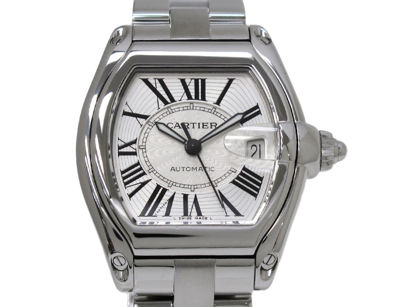 Cartier Roadster Stainless Steel Automatic 44mm Mens Watch