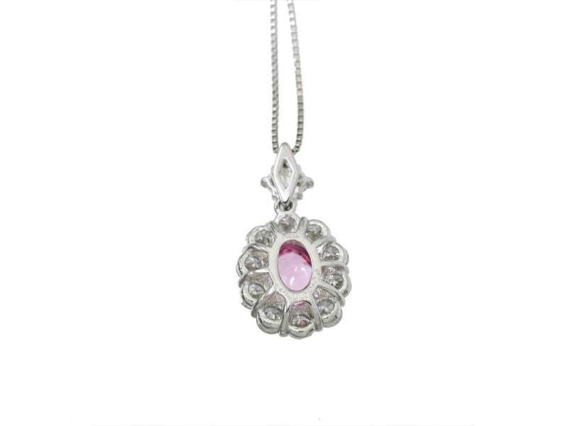 Platinum Sapphire Diamond Necklace