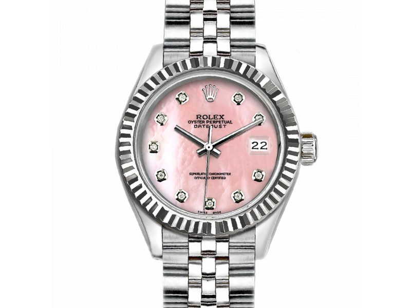 Rolex Datejust Stainless Steel with Pink MOP Dial 36mm Unisex Watch