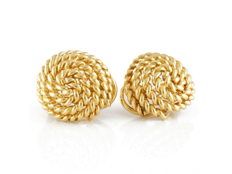 TIFFANY&Co. 18K yellow Gold rope Earring CHAT-406