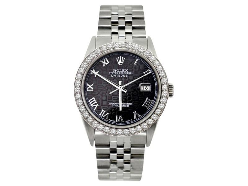 Rolex Datejust Diamond Stainless Steel 36mm Watch