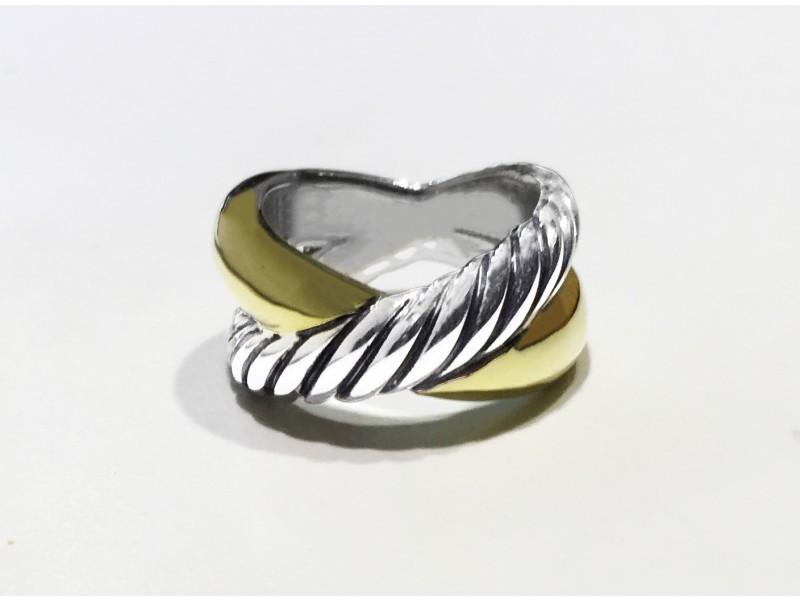 David Yurman Sterling Silver Ring Size 5.5
