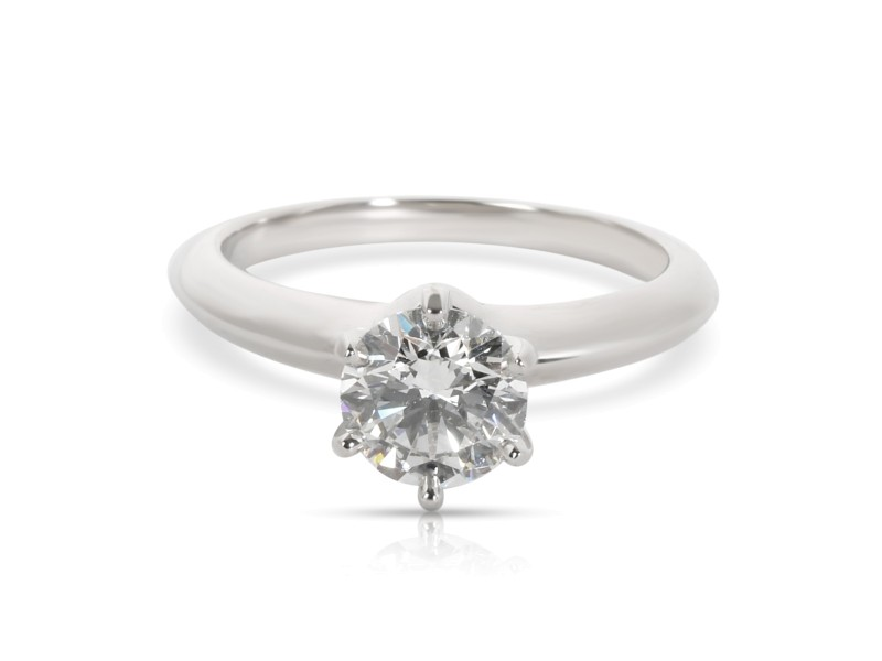 Tiffany & Co. Diamond Solitaire Engagement Ring in  Platinum G VS1 0.96 CTW