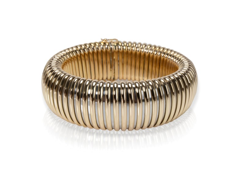 Cartier Tubogas Bracelet in 18K Yellow Gold & Stainless Steel