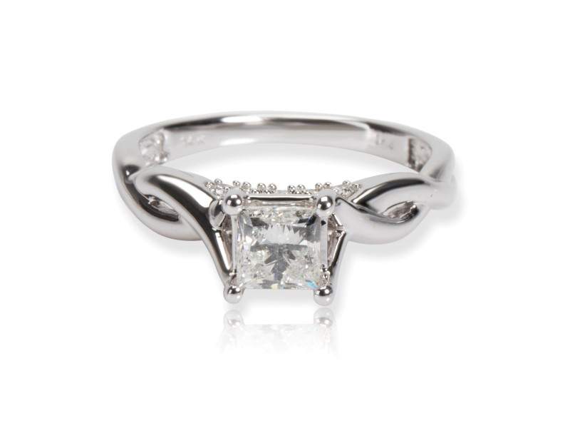 Zales Princess Diamond Engagement Ring in 14K White Gold 1.00 CTW