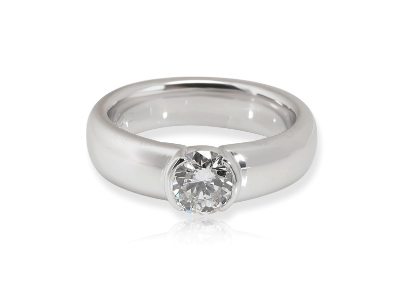 Tiffany & Co. Semi-Bezel Diamond Engagement Ring in Platinum 0.74 CTW