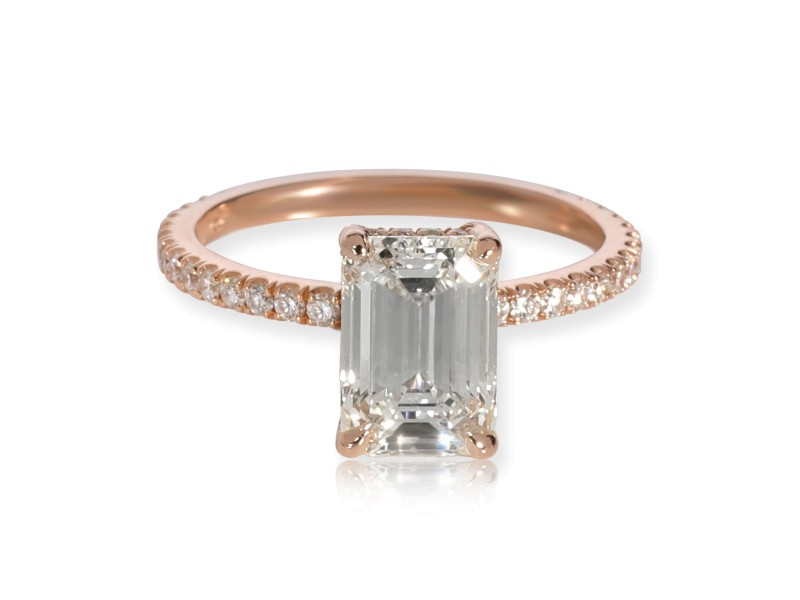 GIA Certified Mark Broumand Diamond Engagement Ring 18K Rose Gold J VS1 1.81 CTW