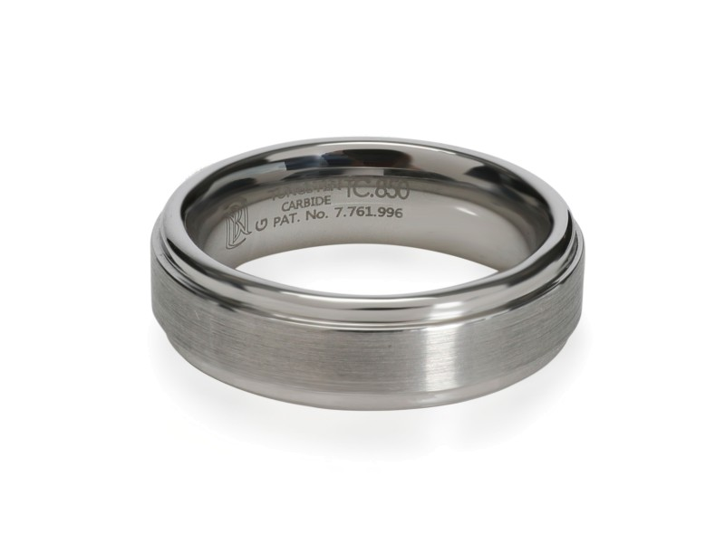 Blue Nile Comfort Fit Tungsten Carbide Men's Wedding Band