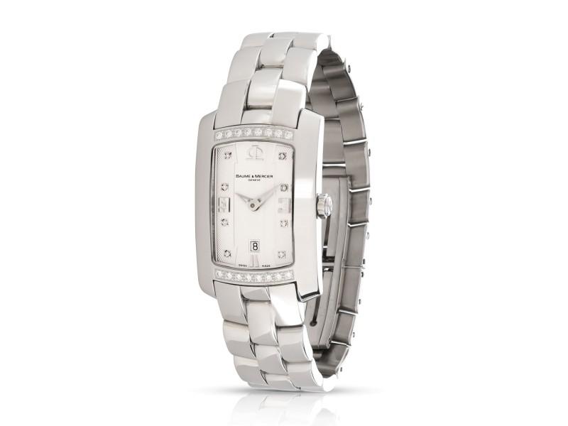 Baume & Mercier Hampton Mille 65503 Women's Watch in  Stainless Steel