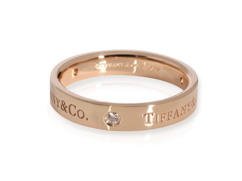 Tiffany & Co. Diamond Wedding Band in 18K Rose Gold 0.07 CTW